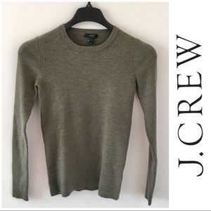 J. Crew Stretch Ribbed Merino Wool Sweater